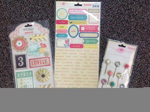 Crate paper embellishments